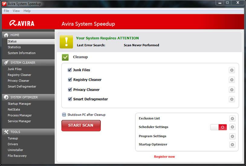 Avira System Speedup windows