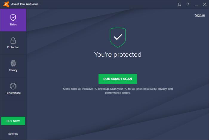 Avast! Pro Antivirus windows