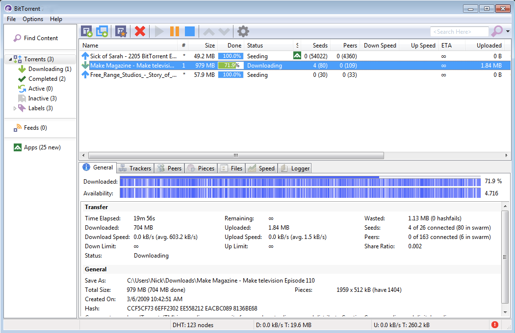 BitTorrent windows