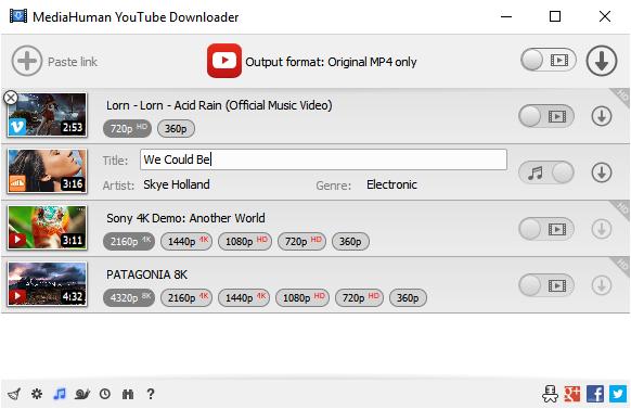 MediaHuman YouTube Downloader Windows