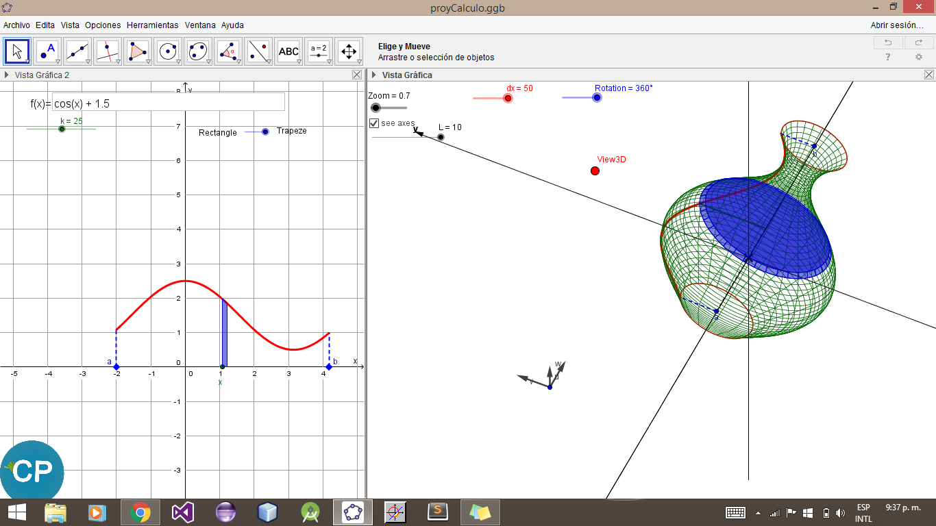 GeoGebra windows