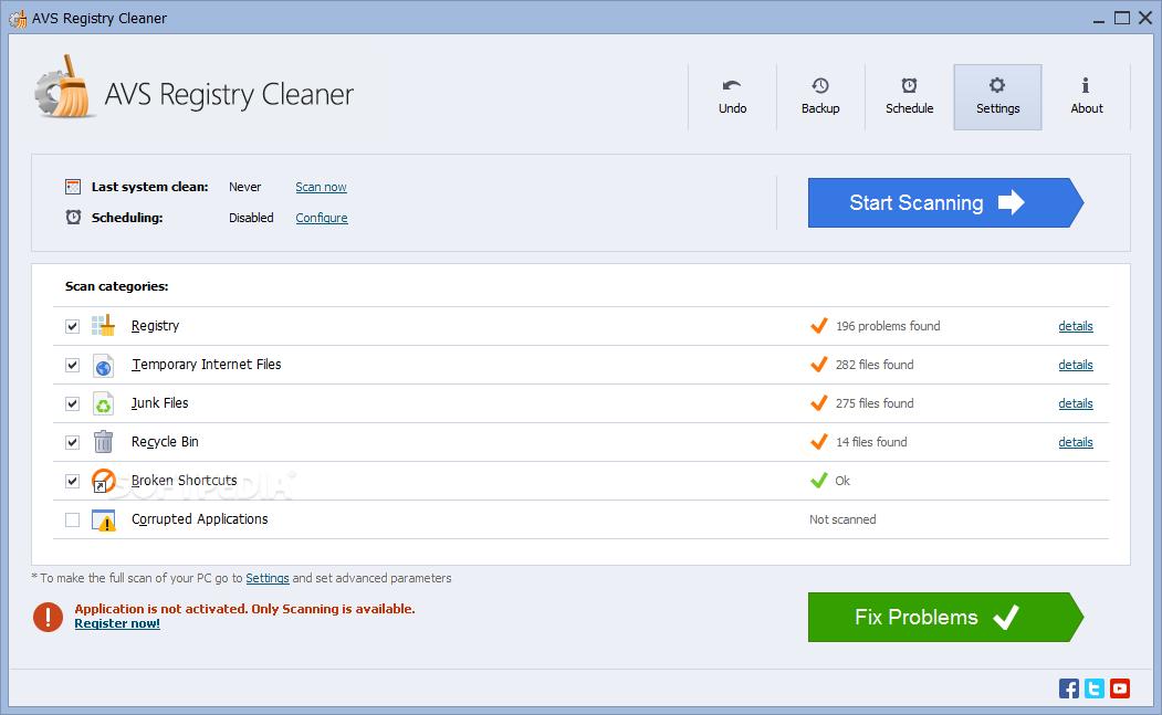 AVS Registry Cleaner windows
