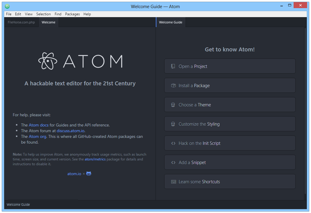 Atom windows