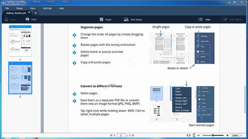 Movavi PDF Editor windows