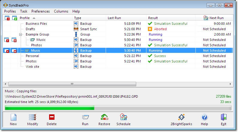 SyncBackPro windows