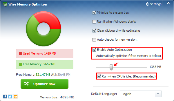 Wise Memory Optimizer windows