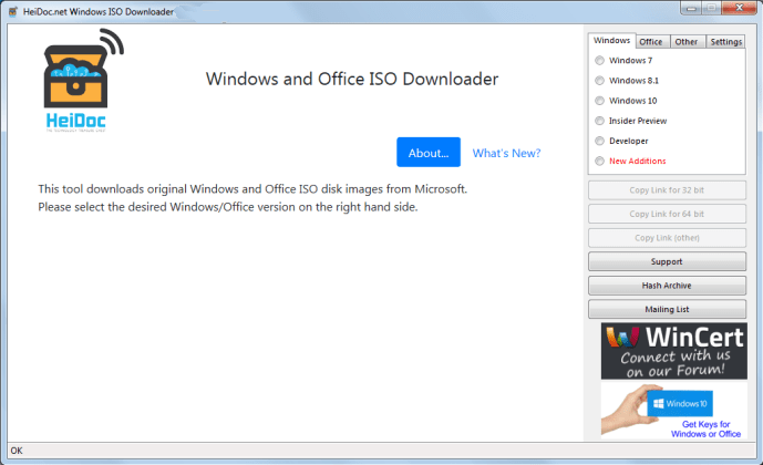Microsoft Windows and Office ISO Download Tool windows