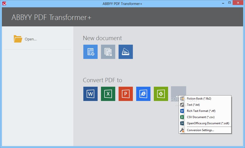 ABBYY PDF Transformer windows