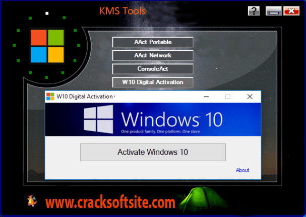 KMS Tools windows