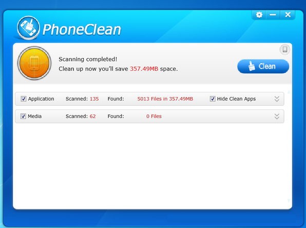 PhoneClean windows