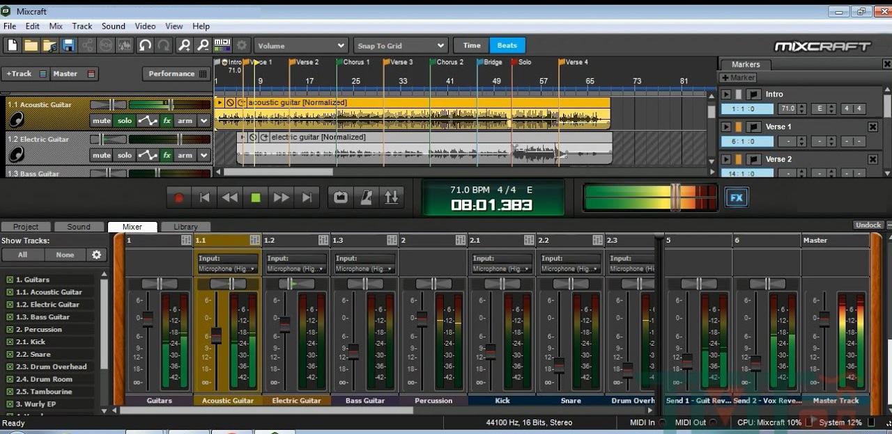 Acoustica Mixcraft Windows