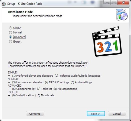 K-Lite Codec Pack Windows