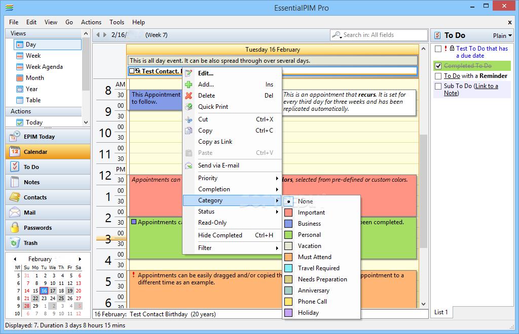 EssentialPIM Pro Windows