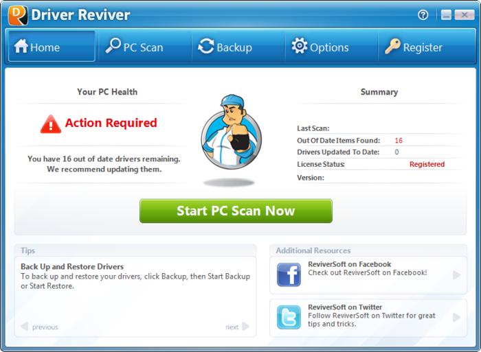 ReviverSoft Driver Reviver Windows
