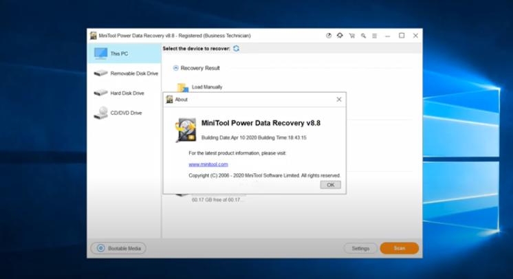 MiniTool Power Data Recovery Business Technician Windows