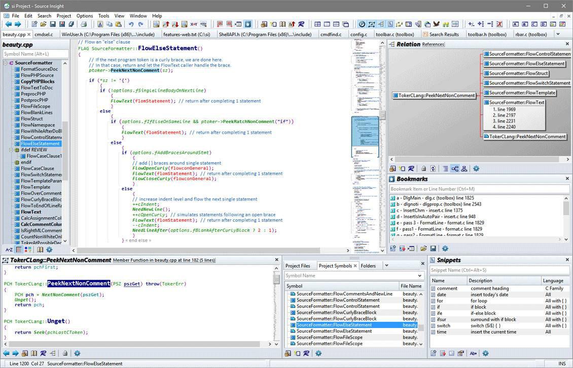 Source Insight Windows